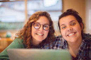 Two female Menno Simons Centre students